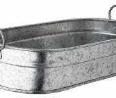 3953 Galvanised Serving Tub 15x23x7cms