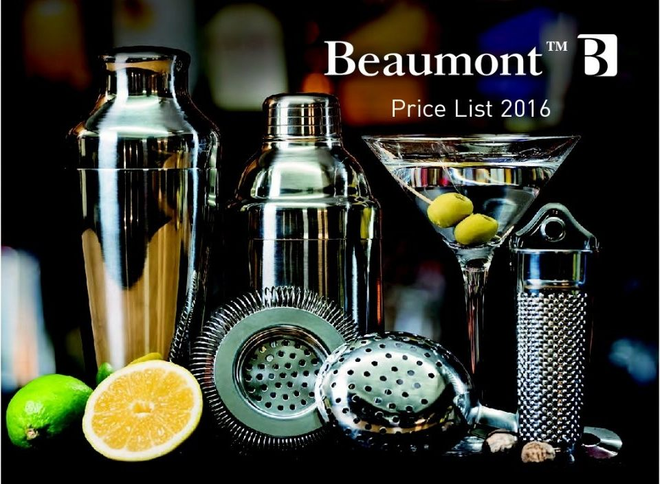 2016 price list front page