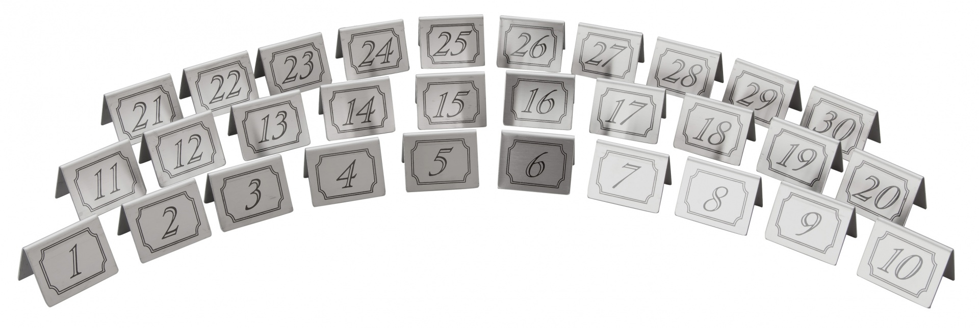 Individual Stainless Steel Table Numbers Beaumont TM - Stainless steel table numbers