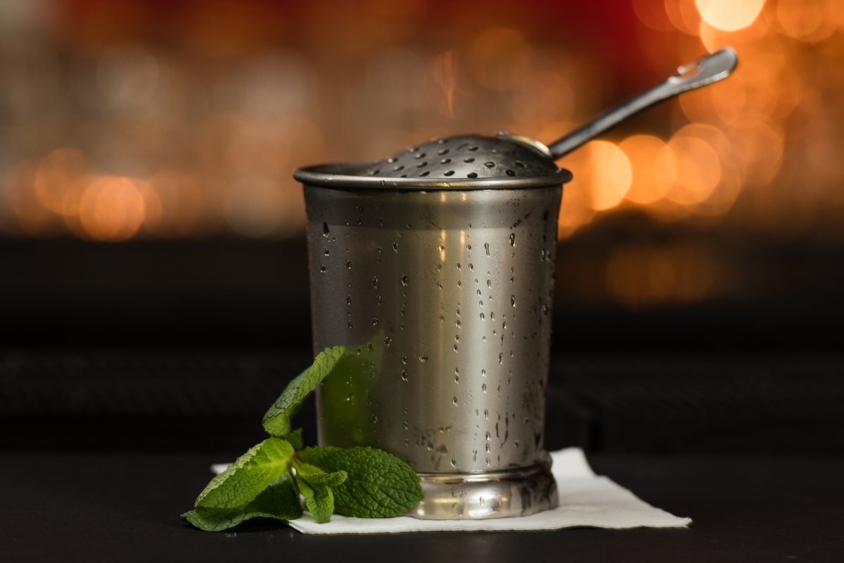 julep cup and julep strainer